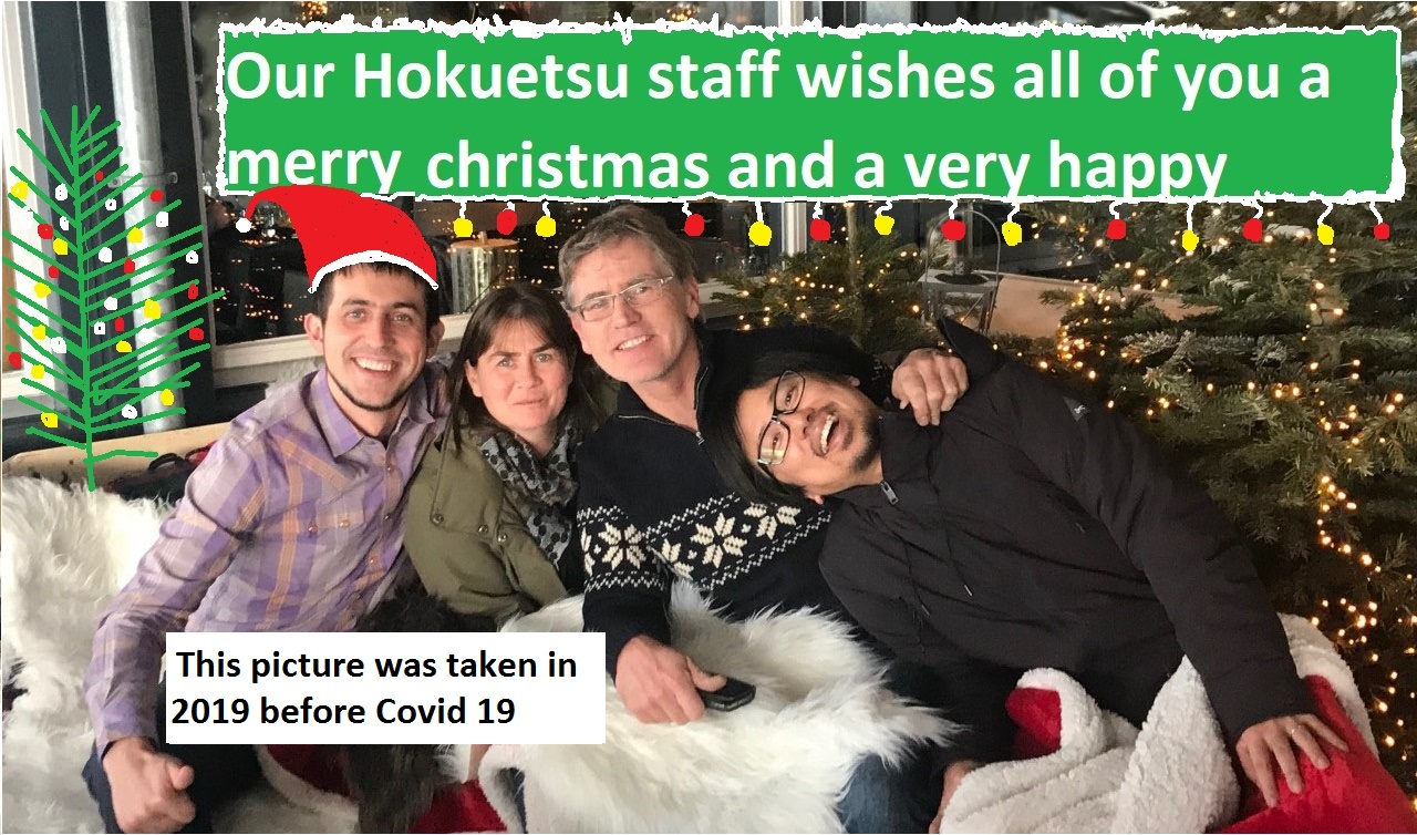 hokuetsu staff dec 2019 christmas card 2020